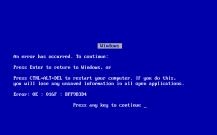 Windows_9X_BSOD